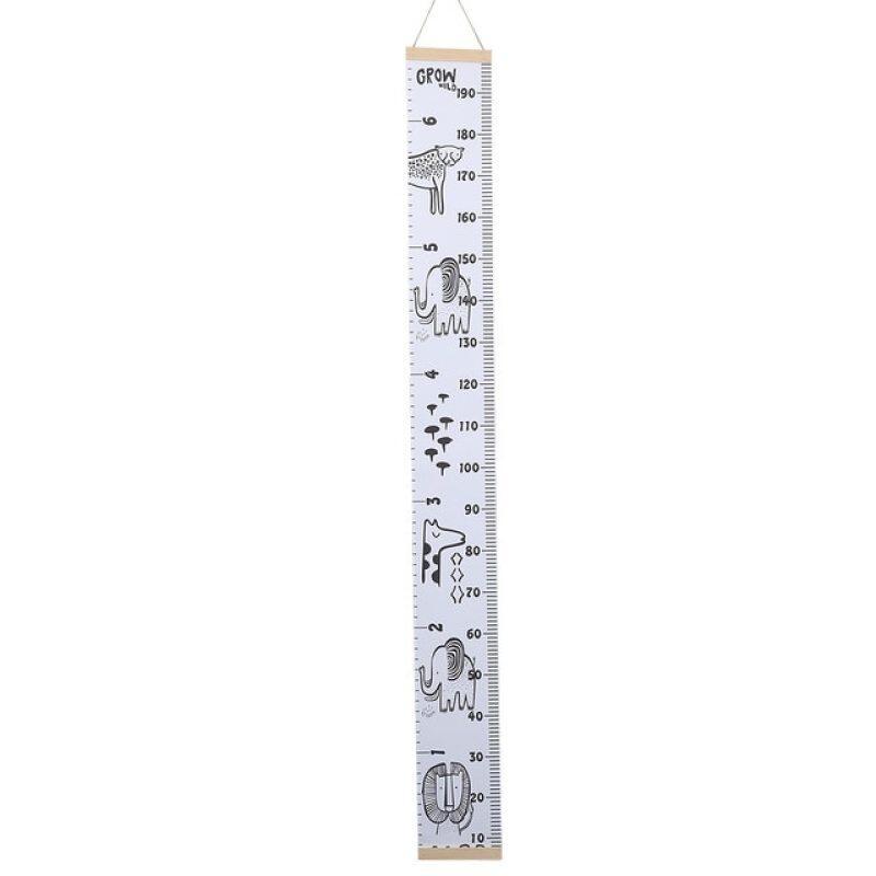 Mới 11.11 Gỗ + Vải Hoạt Hình Đo Miếng Dán Tường Tăng Trưởng Biểu Đồ Hoạt Hình Biểu Đồ Chiều Cao Cho Bé Thước Kẻ Dán Tự Làm Cho Trẻ Em