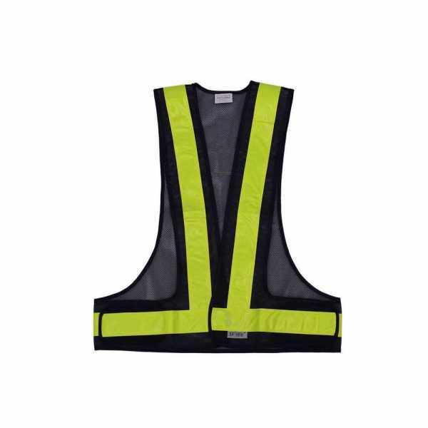 SFVest High Visibility Reflective Vest Reflective Safety Strap Vests Workwear Security Working Clothes Day Night Cycling Running Traffic Warning Safety Waistcoat (Black & Yellow)