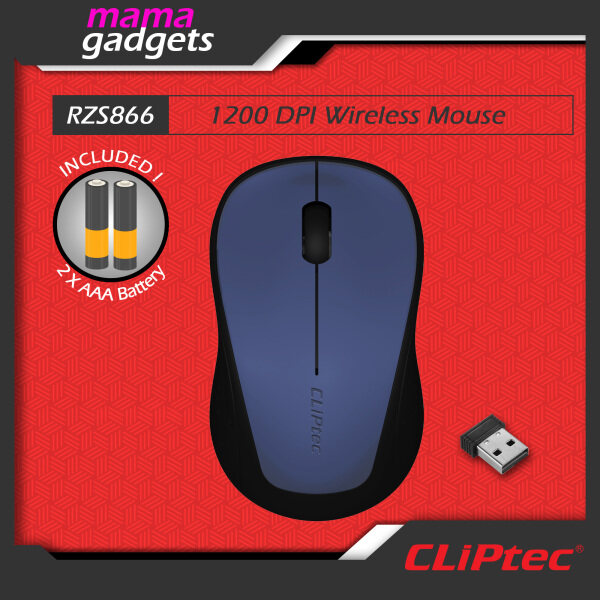 CLiPtec RZS866 CLIP-TRAX 2.4Ghz Wireless Optical Mouse Malaysia