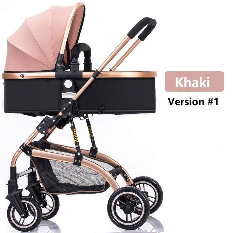Baby Stroller 3 In 1 High-Landscape Bidirectional Walking Baby Buggy Pram Portable Folding Strollers Baby Car Carriage