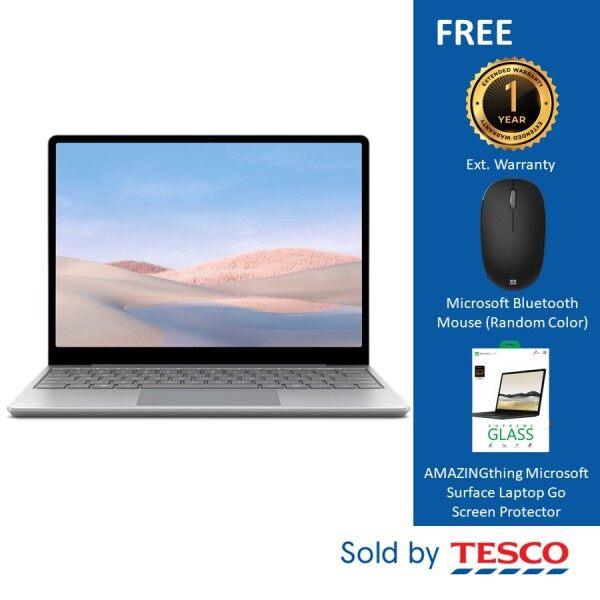Microsoft Surface Laptop Go (THH-00018) 12 i5/8GB/128GB Platinum + Ext. Warranty + Bluetooth Mouse (Random Color) Malaysia