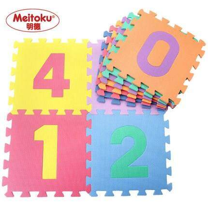 123 Cute Multicolour Playmats Soft Eva Foam Number Puzzle Jigsaw Playing Mat For Baby By Micamaira.
