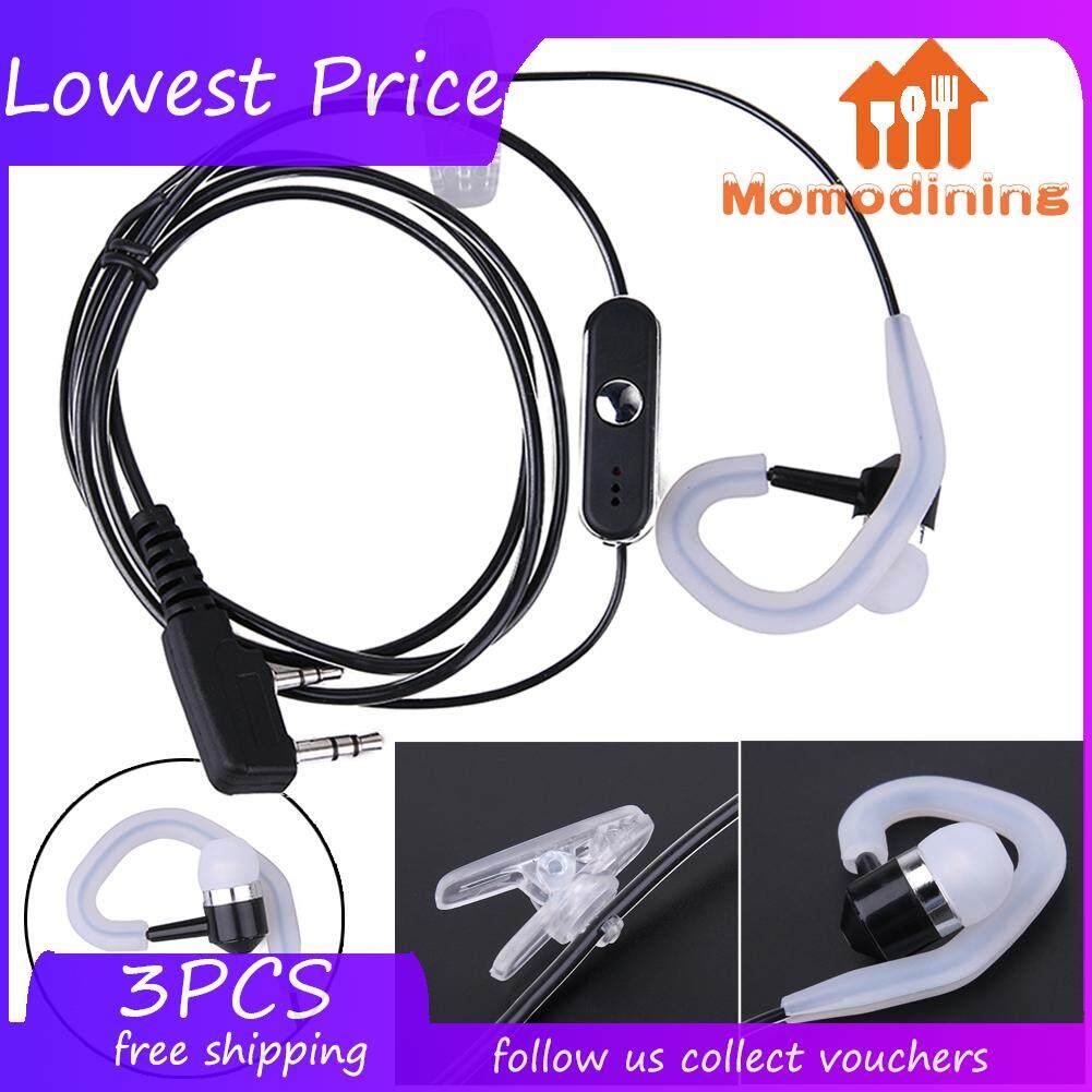 1x 2 Pin Earhook Earpiece Headset PTT Mic For Kenwood HYT BaoFeng Radio Whit US
