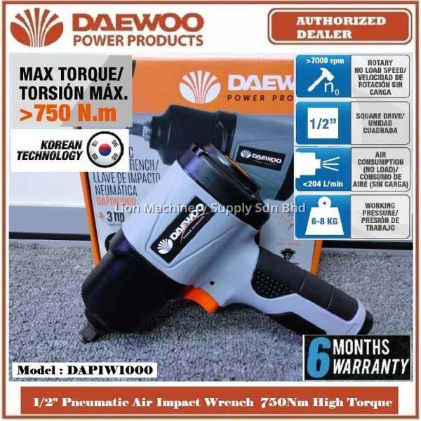 DAEWOO 1/2 Pneumatic Twin Hammer Air Impact Wrench DAPIW1000 - 750Nm High Torque - Brand From KOREA - 6 Months Local Warranty -