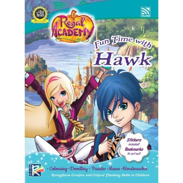 REGAL ACADEMY(WITH STICKERS, COLOUR BOOK) - FUN TIME WITH Hawk Pelangi Publishing Malaysia