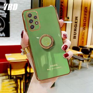 YBD Ốp Lưng Bảo Vệ Máy Ảnh Chính Xác Cho Samsung Galaxy A32 4G, Ốp Mạ Chống Rơi Phong Cách Nữ Tính Với Giá Đỡ Điện Thoại Đồng Hồ Sáng Tạo thumbnail