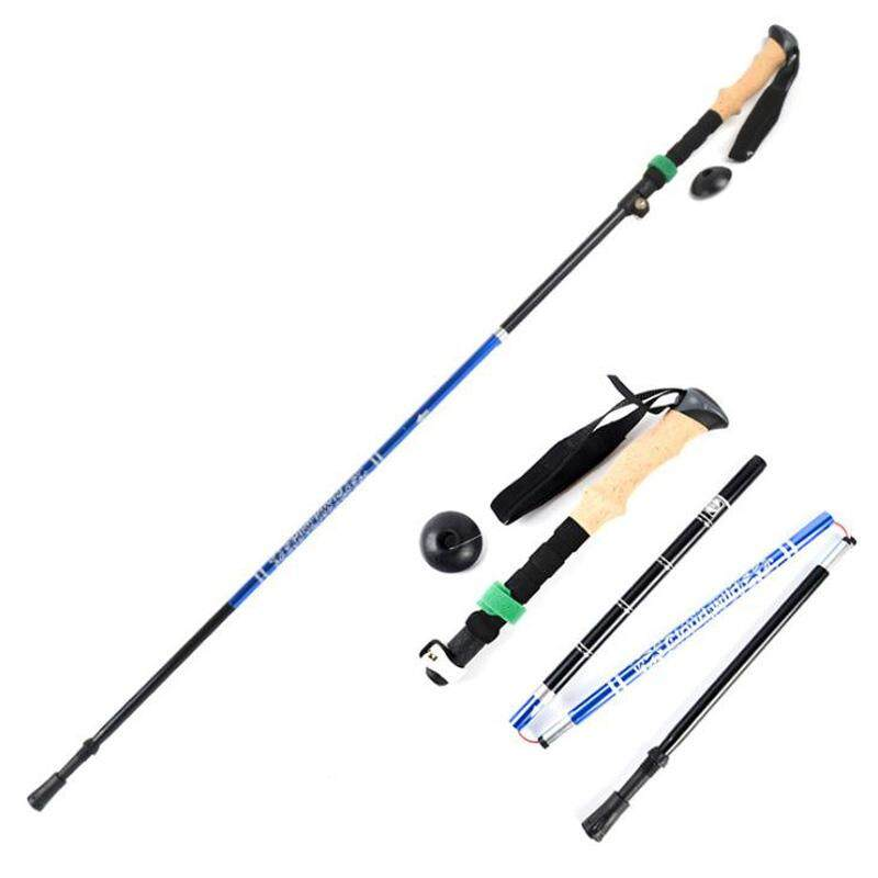 Bảng giá Folding Pole Walking Hiking Sticks Telescopic Trekking Hiking Poles Ultralight Walking Canes Protectors