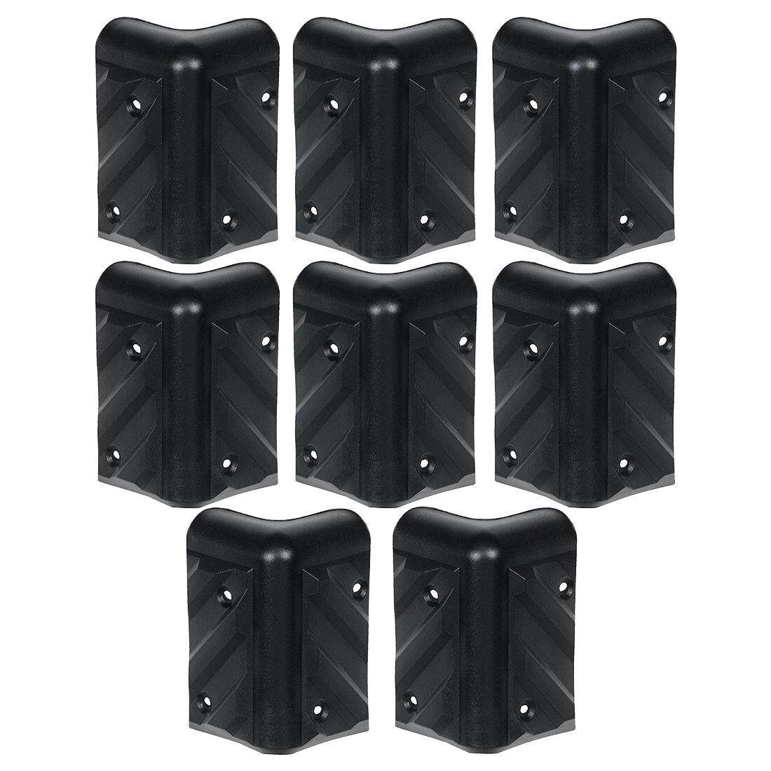 Rh-1610-8-A Stackable Chevron Corner Durable Hdpe Plastic Case, Set Of 8 By Ralleya.