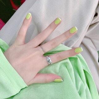 24 Cái Thời Trang Pháp Cạnh Trắng Màu Xanh Lá Cây Wearable Móng Tay Giả Cô Gái Trang Trí Hàng Ngày Finisned Nail Beauty Làm Móng Tay Công Cụ thumbnail