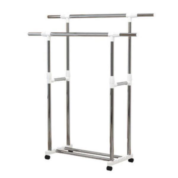 Floor type single-rod double-rod clothes hanger
