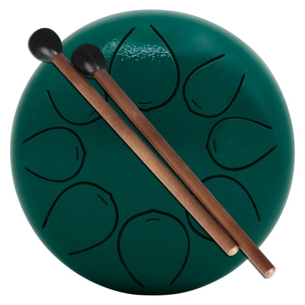 Steel Tongue Drum 8 Notes 5 Inches Chakra Tank Drum Steel Percussion Storage Bag and Mallets