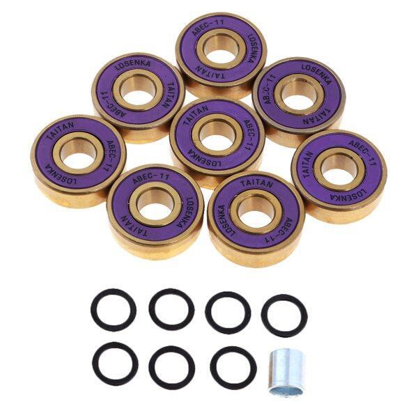 Phân phối 8 Cái Cường Độ Cao Titanium ABEC 11 Vòng Bi Với Hộp Pro Skateboard Vòng Bi Cho Skateboards Inline Giày Trượt