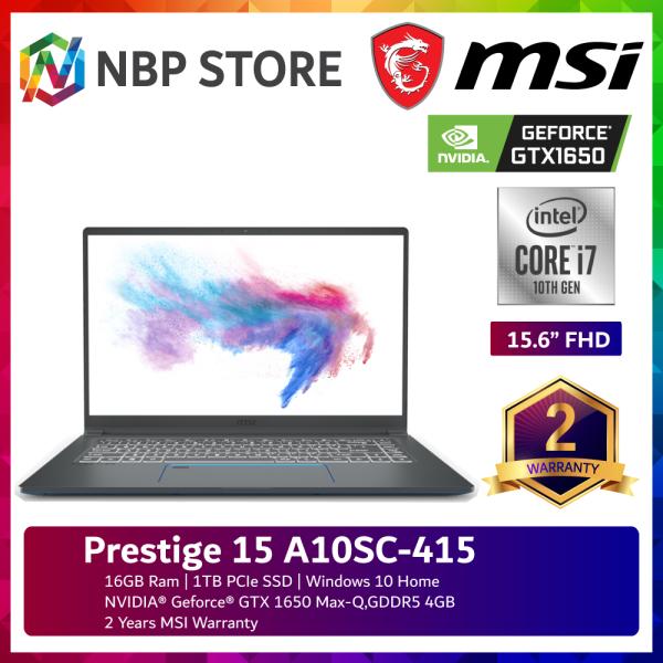 MSI Prestige 15 A10SC-415 15.6 FHD IPS Laptop Carbon Gray ( I7-10710U, 16GB, 1TB SSD, GTX1650 4GB Max-Q, W10 ) Malaysia