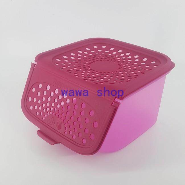 Tupperware Limited Garlic N All Keeper 2.3 L Pink ( Set of 1 )
