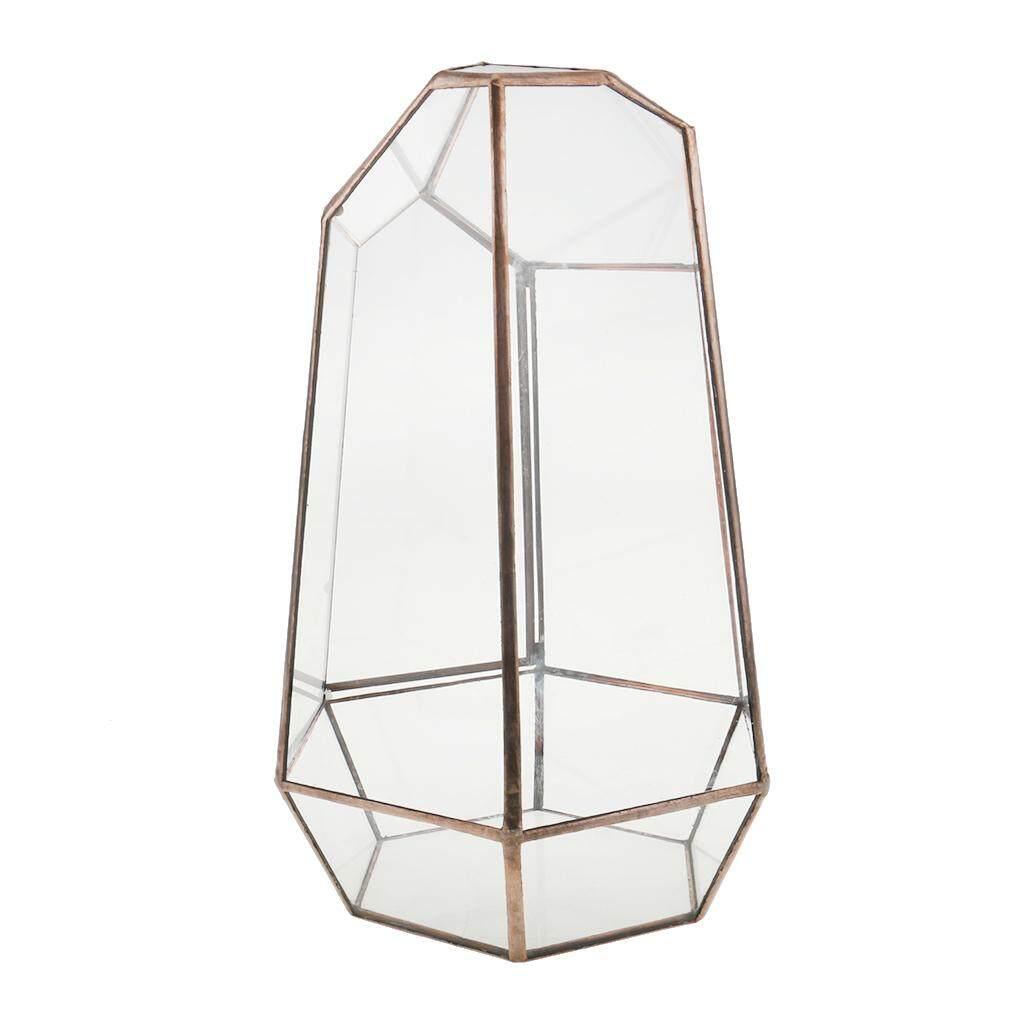 Loviver Irregular Glass Geometric Terrarium Box Tabletop Succulent Plant Planter L