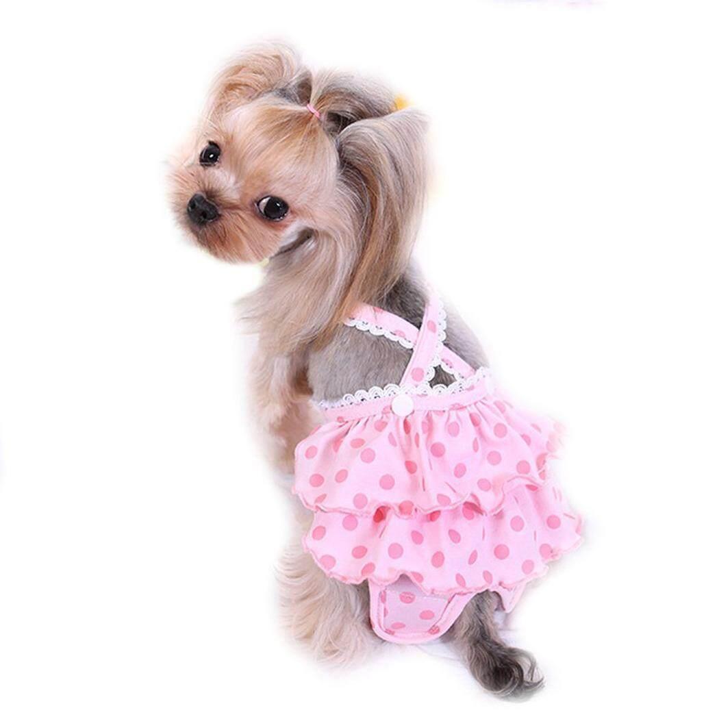 Chó Tã Có Thể Giặt Có Thể Tái Sử Dụng Vệ Sinh Pantie Đầm Chó Bông Tã với Suspender cho Nữ Chó L - 4