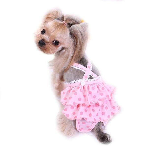 Chó Tã Có Thể Giặt Có Thể Tái Sử Dụng Vệ Sinh Pantie Đầm Chó Bông Tã với Suspender cho Nữ Chó, S