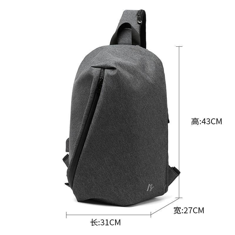 Korean version of the trend of leisure shoulder bag mens postman sports cross-body bag mens bag youth travel Messenger bag chest bag male