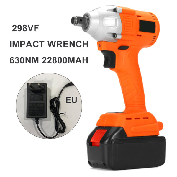 Tool Nest 630NM Electric Impact Wrench Set With Battery LED Light Charger Reverse Motion Woodworking