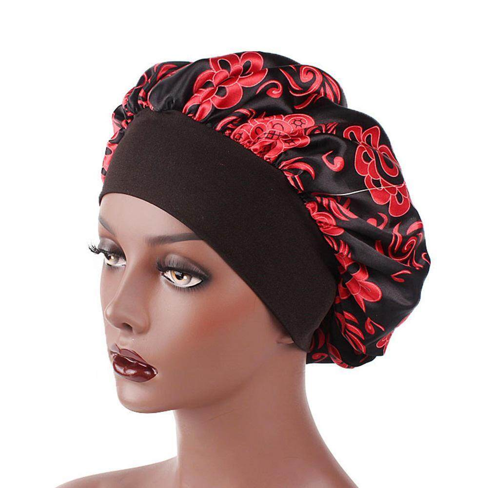 7cd92dc8 Women Wide Band Floral Print Turban Night Sleep Hat Hair Protection Cap  Head Wrap Cover