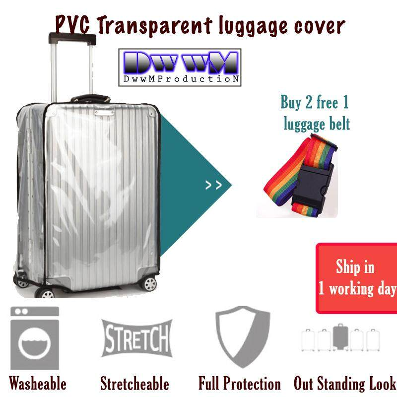 03c0fc815 Luggage Cover Protector Transparent Anti Scratch + Free Gift (20