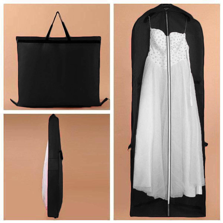 7043b0533626 Foldable Nonwoven Long Garment Dress Storage Cover Bag Carrier with Zipper  Handles for Bridal Wedding Dresses Party Dress Jacket Longer Clothes 180 x  ...
