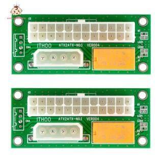 [Hàng Có Sẵn] Welcomehome 2 Thẻ Nguồn ATX 24Pin Sang SATA Molex 4Pin Dual PSU thumbnail