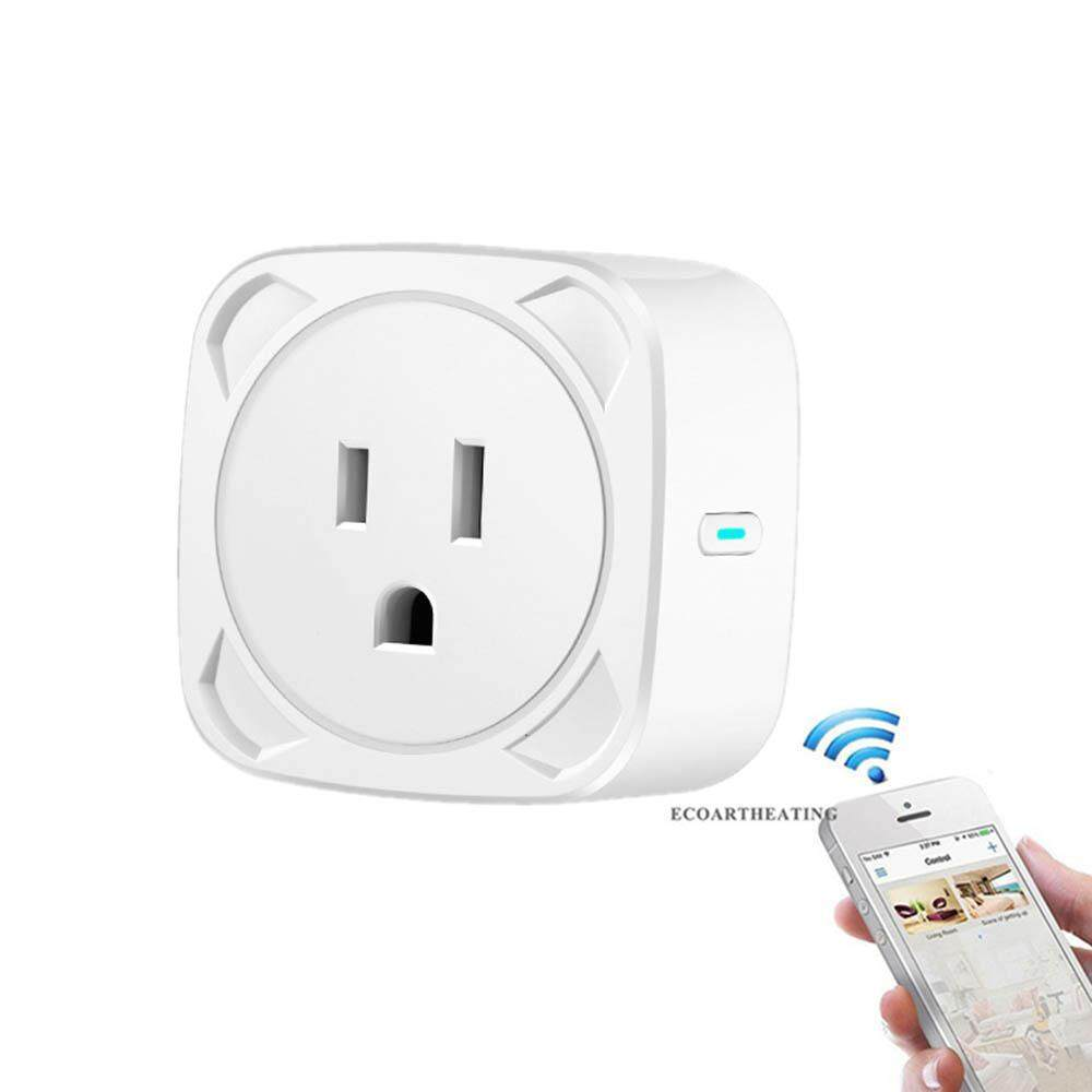 GoodGreat Wifi Smart Plug, Mini Outlet Voice Control Switch Socket with Energy Monitoring App Remote Control and Timing Function No Hub Required Support Echo Alexa Google Home