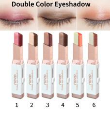 Phấn mắt dạng thỏi Stereo gradien Shimmer hai màu phấn mắt dạng kem bút mỹ phẩm trang điểm mắt không thấm nước