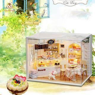 Nhà Búp Bê Mini Tự Làm Bằng Gỗ 3D, Đồ Chơi Mô Hình Lắp Ráp Thủ Công Quà Tặng thumbnail