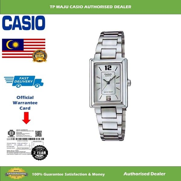 [PRE-ORDER] CASIO LTP-1238D Ladies Analog Watch Casual Luxury Watch Water Resistance White Dial with Stainless Steel Band - LTP-1238D-7ADF ( Official 2 Years Warranty ) Courier in 7 days (ETA: 2021-09-22) Malaysia