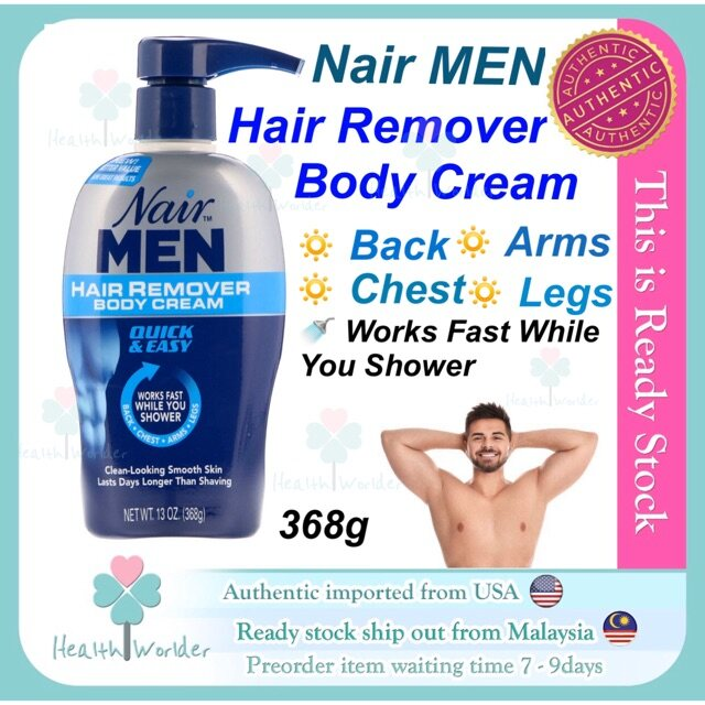 Ready Stock Nair Men Hair Remover Body Cream Lazada