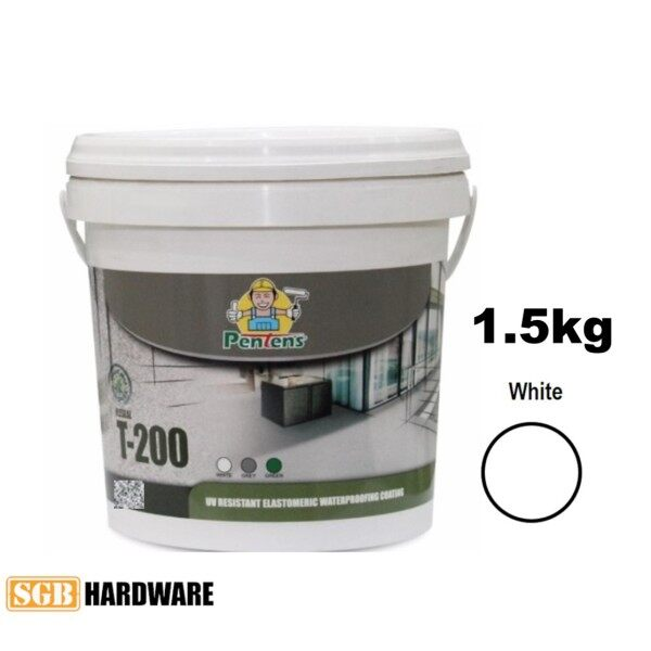1.5KG PENTENS T-200 UV Resistant Elastomeric Waterproofing Coating T200 (White / Grey)