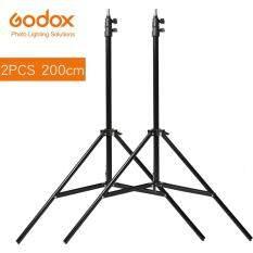 2x Chân Đèn Godox 2M Chân Máy Cho Studio Ảnh Softbox Video Flash Ô Dù Phản Xạ Ánh Sáng Chân Đế 200Cm
