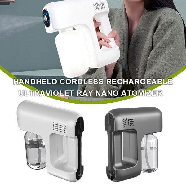 Nano Steam Handheld USB Charge Household Portable Wireless Sprayer Machine Blue Light Nano Steam Spray Disinfection Sprayer for Home, Office, School or Garden
