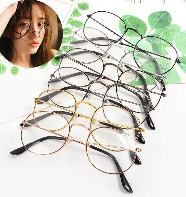 b14a77a55bf 1 pc Fashion Unisex Vintage Retro Round Circle Mirror Lens Glasses Eyewear  Eyeglasses(Brown)