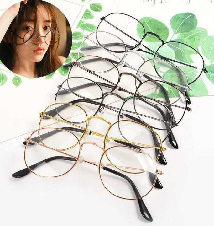 Kacamata Wanita Fashion Retro Klasik Uniseks Lingkaran