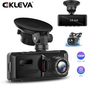 EKLEVA Mini 3.16 Inch DVR Cho Xe Hơi Máy Ảnh Ống Kính Kép FHD 1080P Camera Hành Trình Với Cảm Biến Tự Động G Đầu Ghi Video Bộ Ghi Hình Chiếu Hậu thumbnail