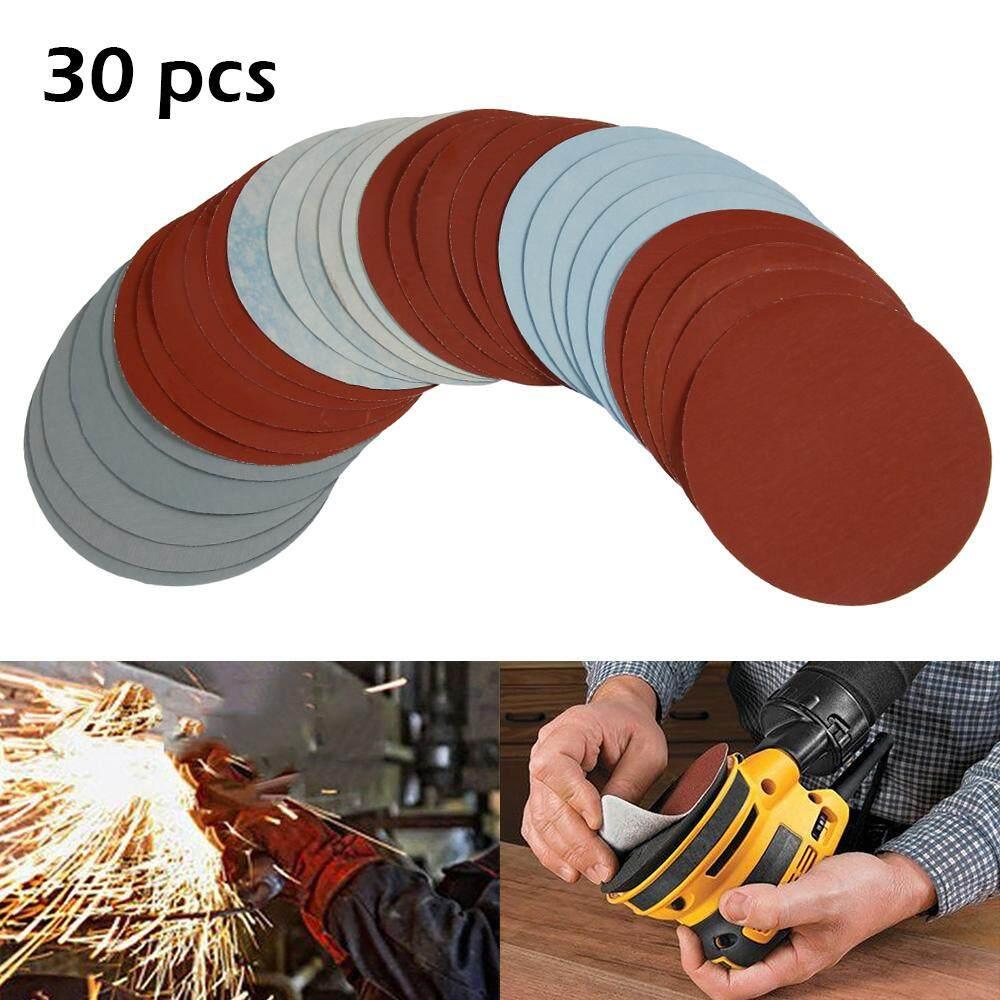 Hook Loop Sandpaper Sandpaper Round Sand Disc 30 Ps 125mm / 5 inch Grit 1000/1500/2000/3000/5000/7000 Sanding Discs