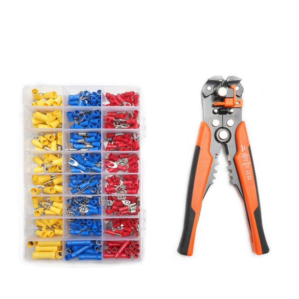 GoodGreat Universal Self-Adjusting Insulation Cable Wire Crimper Stripper,Automatic Wire Stripping Tool/Cutting Pliers Tool, Automatic Strippers With Cutters & Crimper