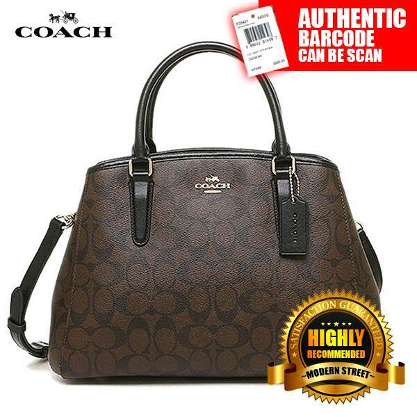 d7b8cd550 Coach F58310 [NWT] SMALL MARGOT CARRYALL IN SIGNATURE -IMAA8 (Black & Brown