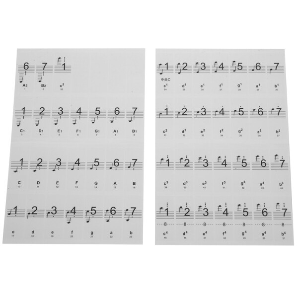 Piano Sticker Transparent Piano Keyboard Sticker 54/61/88 Key Electronic Keyboard 88 Key Piano Stave Note Sticker for Piano Keys Malaysia
