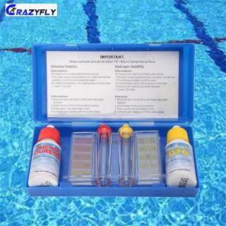 Crazyfly 1 Bộ Dụng Cụ Kiểm Tra Chất Lượng Nước PH Clo, Bộ Dụng Cụ Kiểm Tra Thủy Lực Phụ Kiện Cho Bể Bơi thumbnail