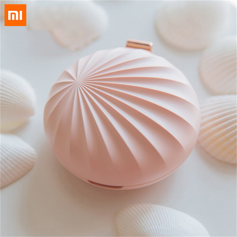 Xiaomi Ecological Chain Urallife Led Light Usb Waterless Aromatherapy Diffuser Aroma Essential Oil Diffuser Shell Shape Car Usb Aromatherapy Machine