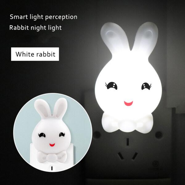 Bảng giá Đèn Ngủ LED Hình Thỏ Đèn Cảm Biến Ban Đêm Thông Minh Chiếu Sáng Tại Nhà Phòng Tắm Hành Lang Trang Trí