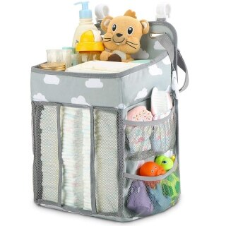 Hanging Diaper Caddy Organizer- Diaper Stacker for Changing Table, Crib, Playard or Wall Nursery Organization Baby Shower thumbnail