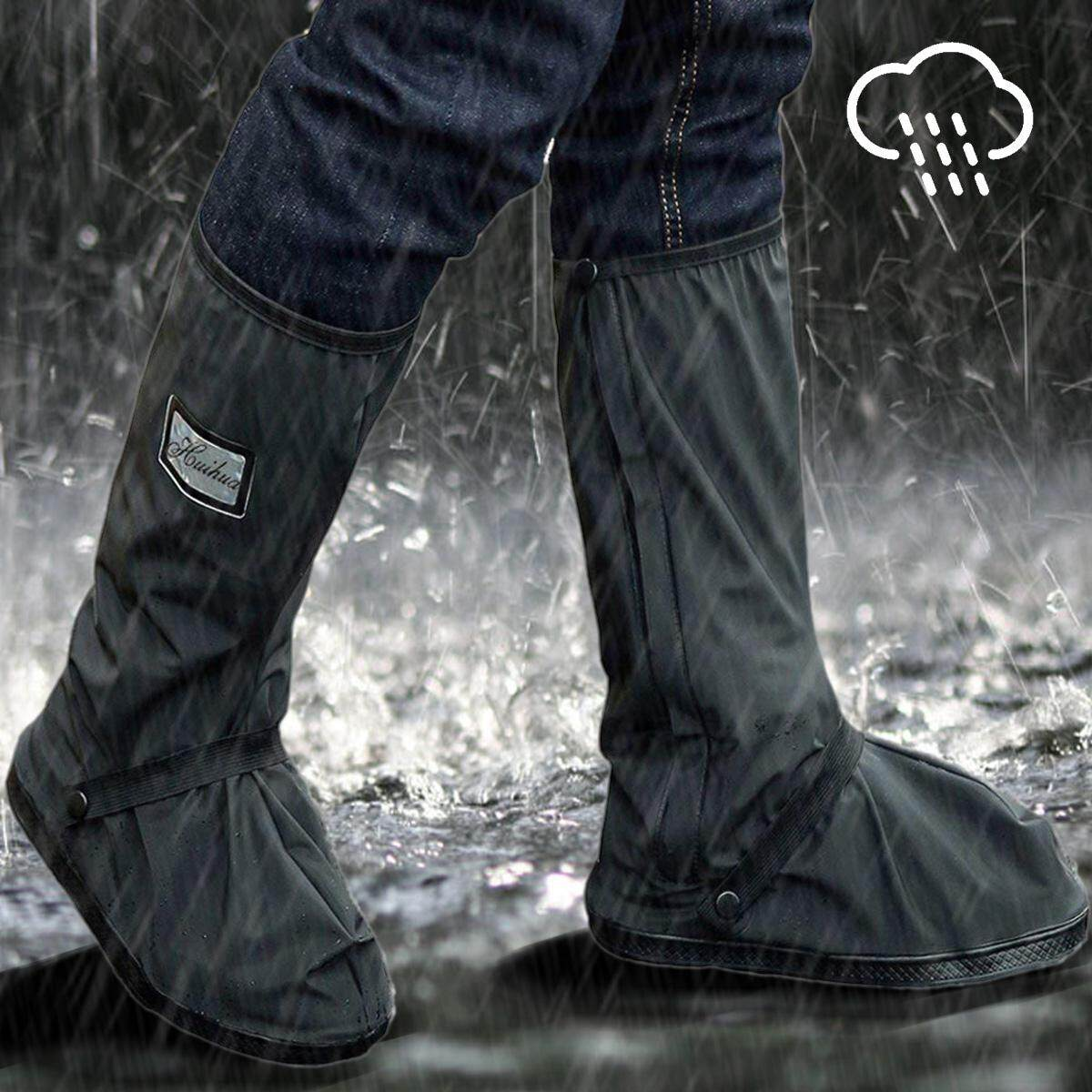 b738b32f31f Waterproof Antislip Rain Shoes Cover Boot for Men Women Motorcycle Bike  Bicycle