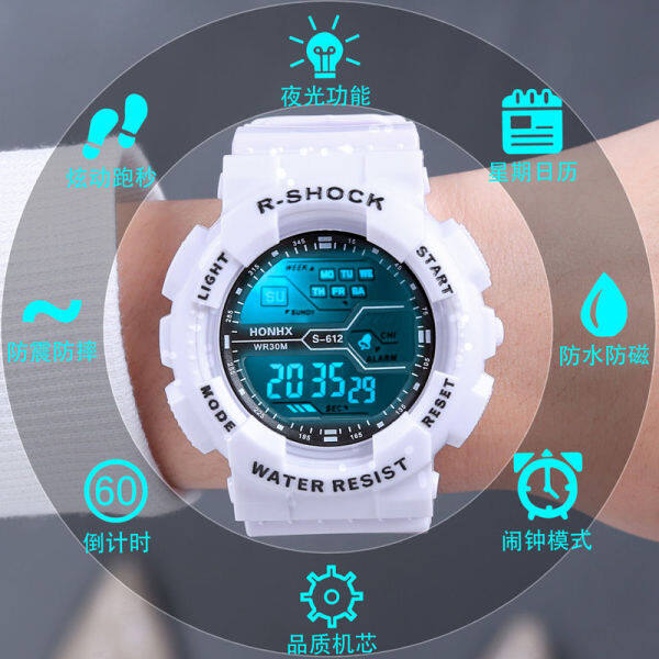 watch for kids electronic watch night light waterproof junior high school students alarm clock sports multi-functional trend boys and children Malaysia