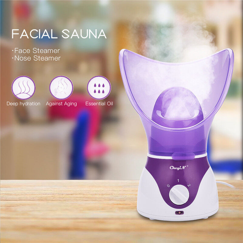 Buy Beauty Moisturizing Facial Steamer Skin Care Thermal Sprayer Smooth Skin Facial Spa Warm Steam Sauna Aroma Steamer (Purple) MR290Z Singapore