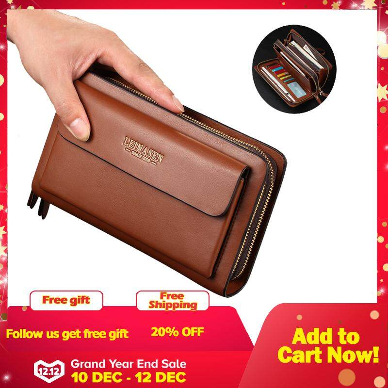Mens wallet money clip phone Admission package High capacity Multi-bit Casual Clutch clutch men